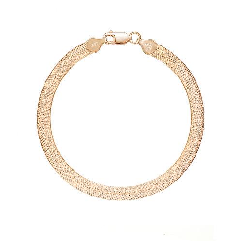 "Rose Gold 7"" Herringbone Bracelet"