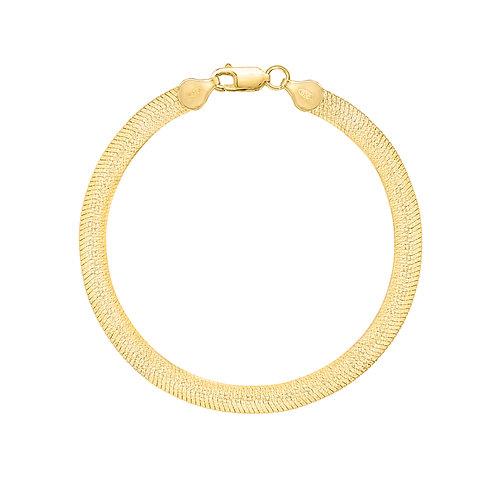 "Gold 7"" Herringbone Bracelet"