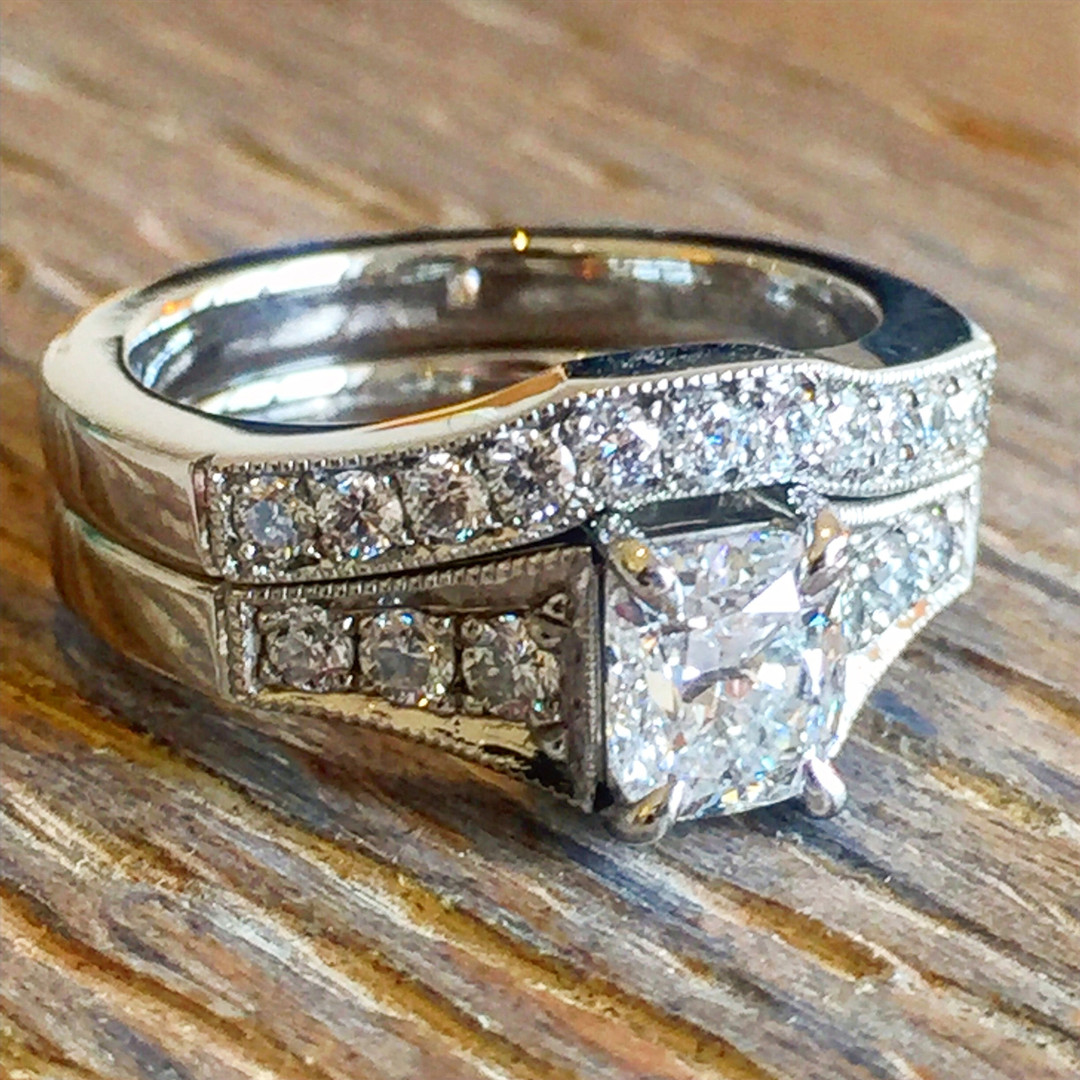 TWJ Bespoke Engagement and Wedding Ring.
