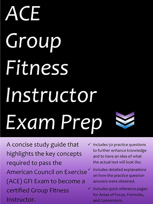 ACE Group Fitness Instructor Exam Prep