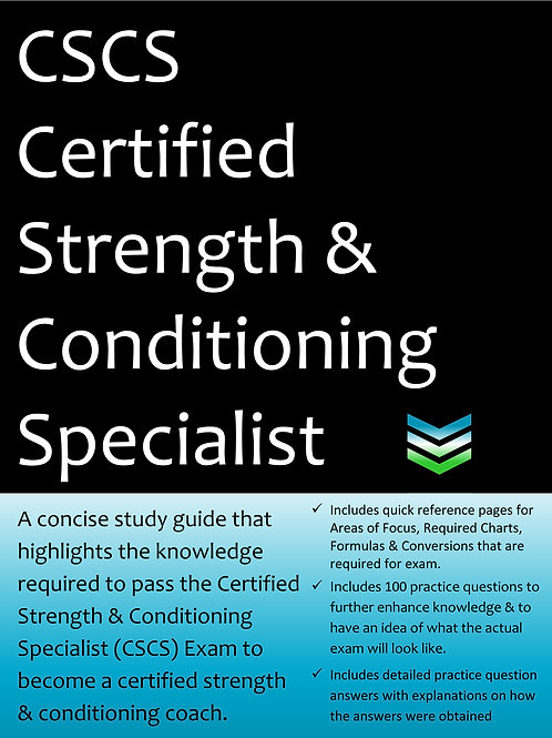 CSCS Certified Strength and Conditioning Specialist Exam Prep