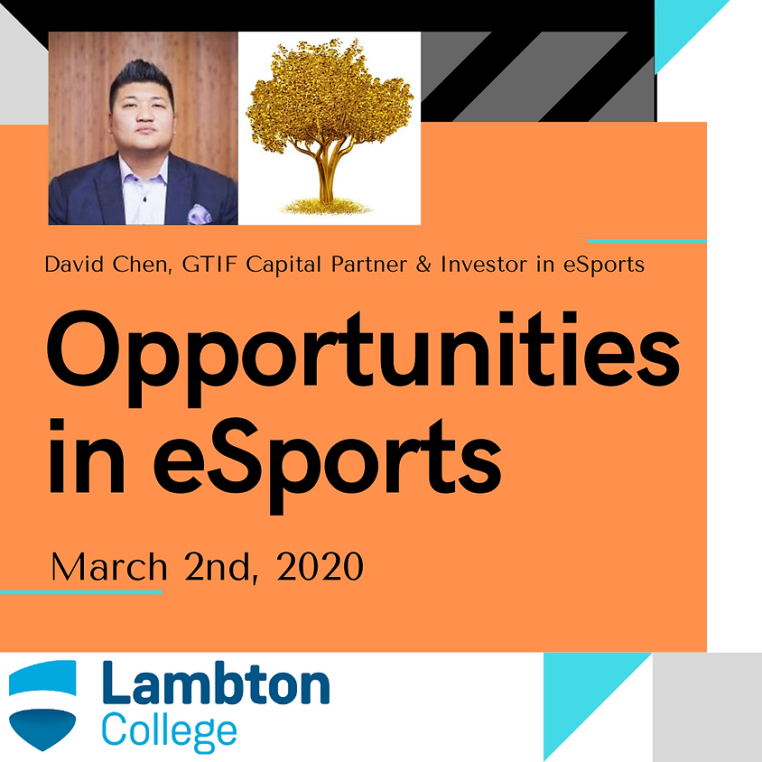 David Chen, Guest Speaker at Lambton College
