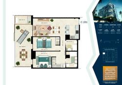 2 Dormitorios Tipo C