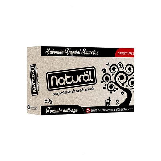 Sabonete Natural Suavetex com Carvão Ativado 80g. - Imagem 1  Sabonete Natural