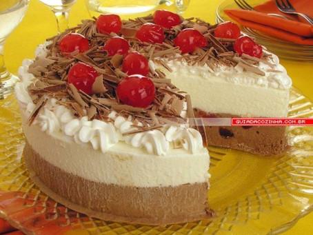 Torta sorvete floresta negra especial de fim de ano