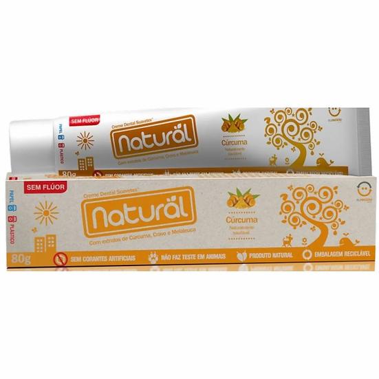 Creme Dental Natural Suavetex com Extratos de Cúrcuma, Cravo e Melaleuca