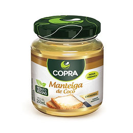 Manteiga de Coco Vegana Nova Formula 100% Vegetal 200 ml - Copra