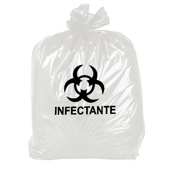 Kit Com 100 Sacos Para Lixo infectante