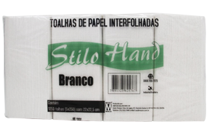 Papel Toalha Stilo 100% Celulose - 1000 Folhas