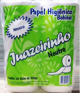 Papel Higiênico Juazeirinho 300 - Branco - 8x200mt
