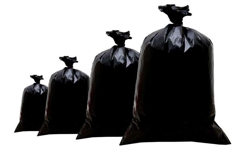 Kit Com 100 Sacos Para Lixo Preto De 100 Litros Comum