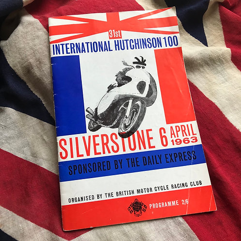 SILVERSTONE INTERNATIONAL HUTCHINSON 100 Official Programme 6 April 1963