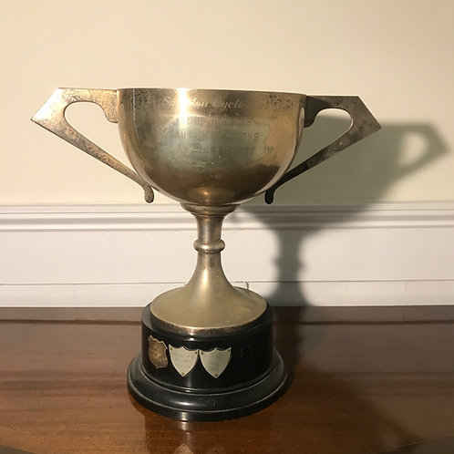 Large vintage Mid 20thC Darts Doubles competition trophy