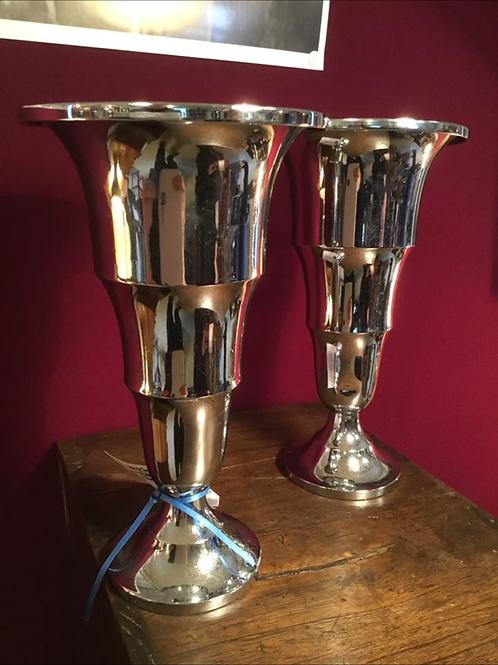 Pair of Art Deco Wave Vases