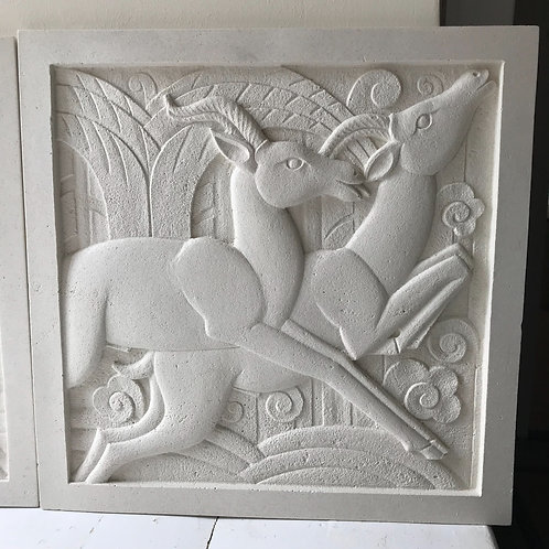 Art Deco Portland Sculpted Wall Plaque - RH