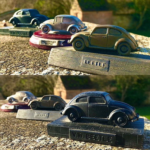 Collection of 3 classic VW Beetle car display models
