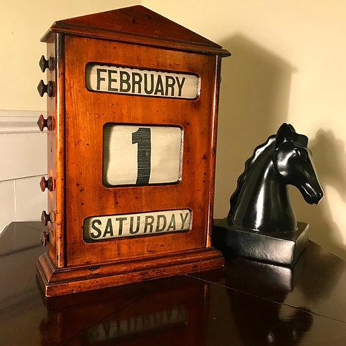 Large Format Late Victorian Perpetual Calendar