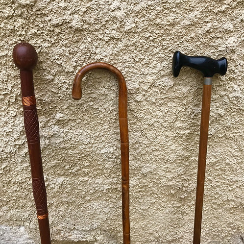 Collection of 3 vintage walking sticks