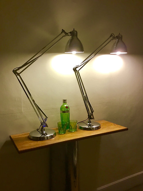 Luxo L1 Long Arm Designer Anglepoise in Chrome