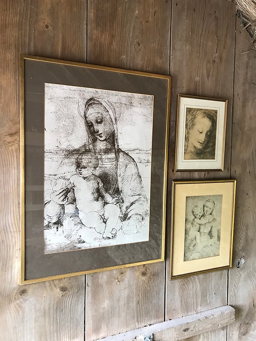 The Madonna collection of three framed vintage prints