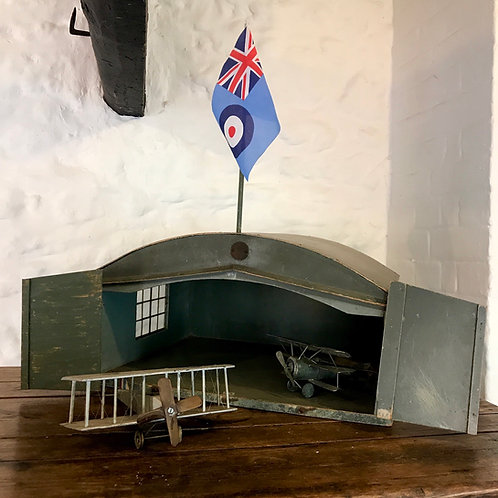 Circa 1920 Royal Flying Corps Toy Aircraft Hangar