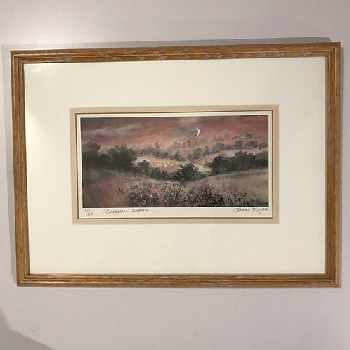 Limited edition colour print - The Crescent Moon by Janet Rogers