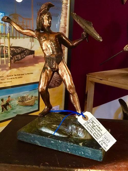 Vintage copper centurion statue