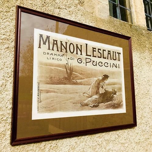 Framed theatre poster - Manon Lescaut