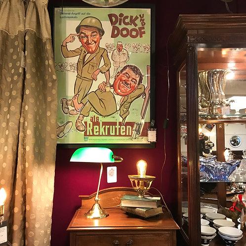 Vintage German Movie Poster Laurel & Hardy