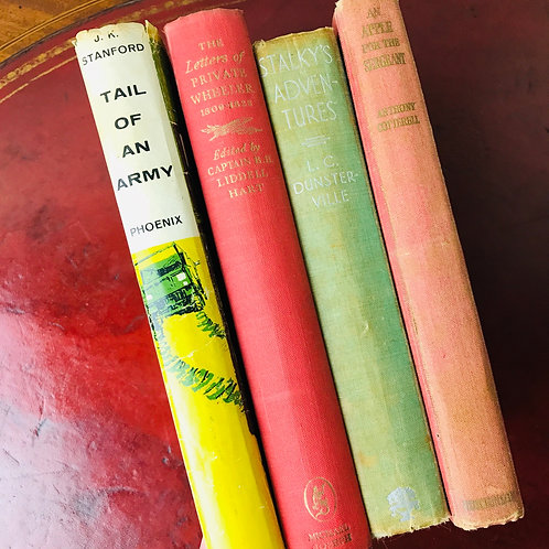 Vintage Military Reading Bundle - 4 titles - Curated by GBR
