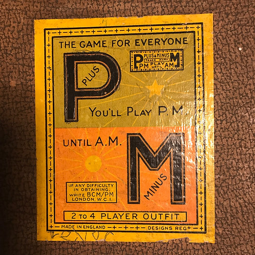 1930 Plus & Minus Board Game