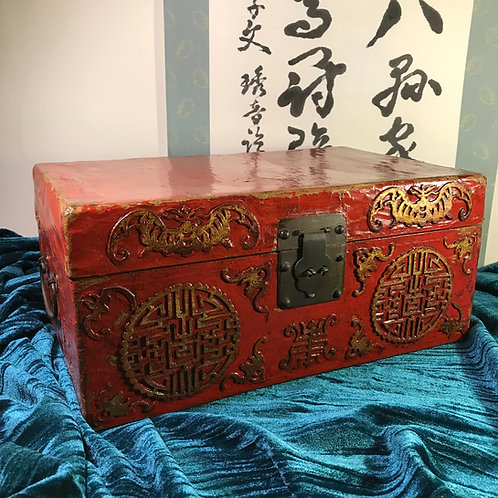 19th Century Decorated Chinese Casket