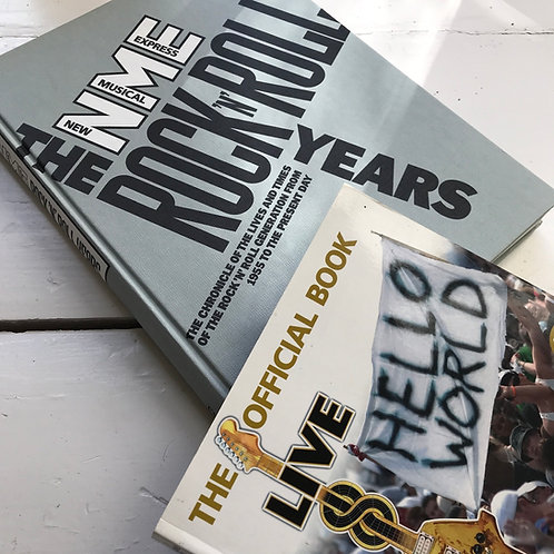 Rock book bundle - NME + Live 8