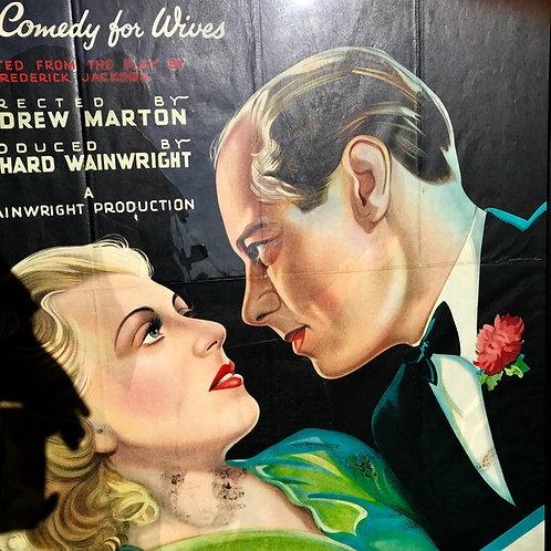 Original 1937 movie poster School for Husbands