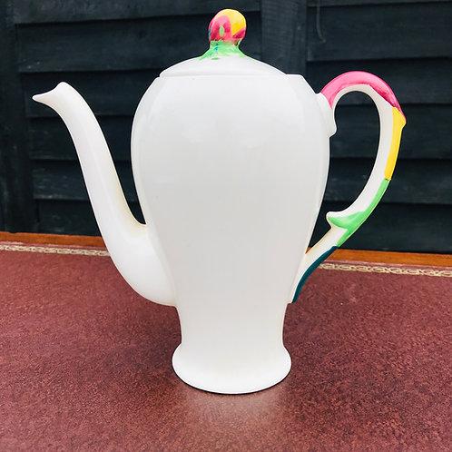 Contemporary rosebud ceramic coffee pot