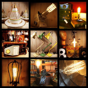 vintage lighting, anglepoise, scifi, steampunk