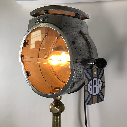 Vintage polished Bullfinch road repair feature lamp