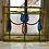 Thumbnail: Art Nouveau Tulip Design stained glass panel (ref no 222)