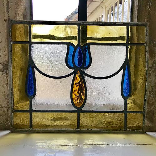 Art Nouveau Tulip Design stained glass panel (ref no 222)