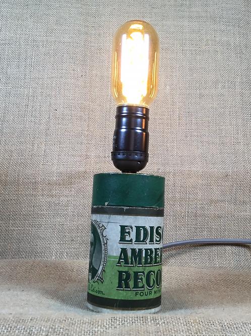 Genuine Thomas Edison Record Case Lamp - Green