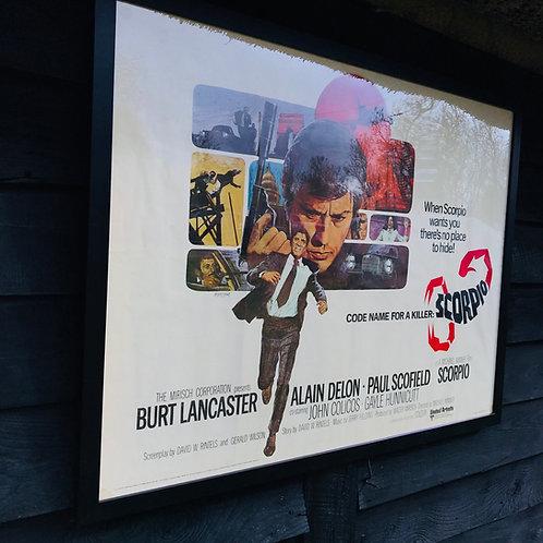 Framed Original Film Poster - Scorpio - 1973