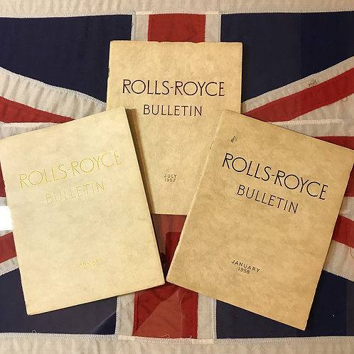 Rolls Royce Bulletin Collection 1957-1958
