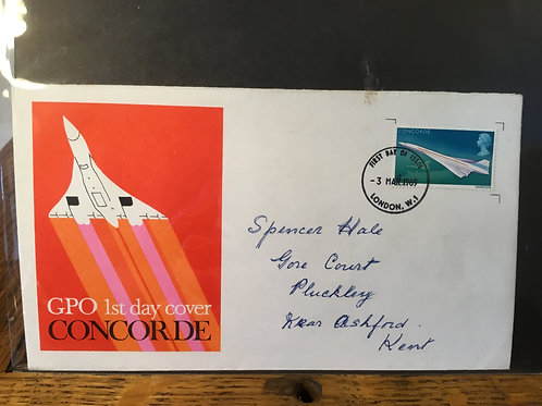 GPO Concord first day cover 1969