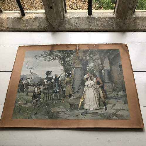 Large Format Chromolithography Print of Pierre Outin's Opening Chapter