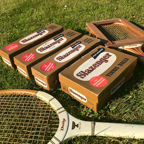 1960s Wimbledon Tennis Balls x 18 in original boxes