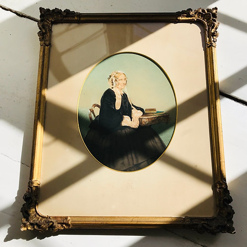 19thC hand painted photographic portrait by WE Kilburn