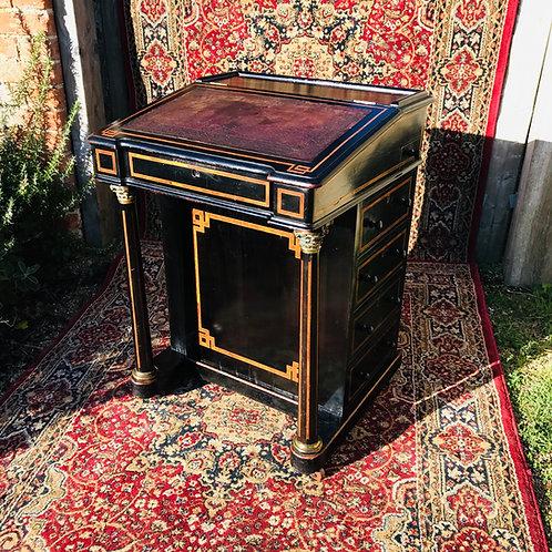 Stunning Aesthetic Period Ebonised Davenport Desk