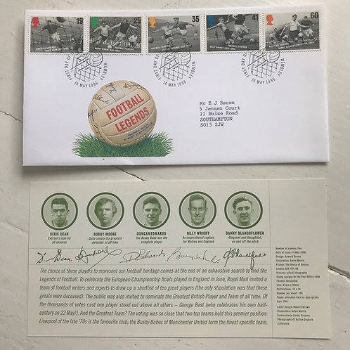 1996 Football Legends First Day Cover