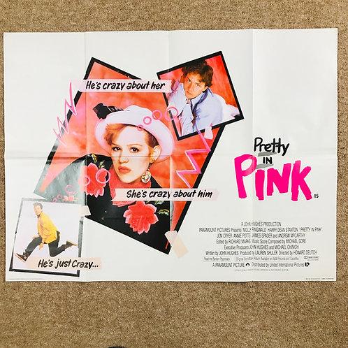 Pretty in Pink original 'Brat Pack' movie poster