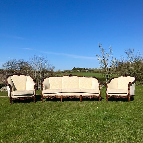 Vintage Reproduction Salon Suite in the 18thC French Style